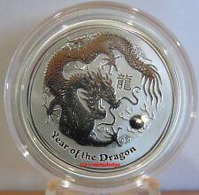 2012 1/2 oz Silver Australian Lunar Year of the Dragon Coin - mintage 389,161