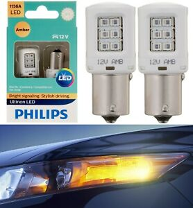 Philips Ultinon LED Light 1156 Amber Orange Two Bulbs Rear Turn Signal Replace