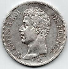 CHARLES X (1824-1830) 5 Francs 1er type 1825 W Lille