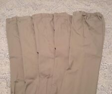 Dockers Boy's Flat Front Pants Size 30 Husky school uniform beige - Lot of 5