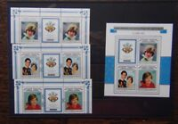 Aitutaki 1982 Birth of Prince William of Wales set & Miniature Sheet MNH