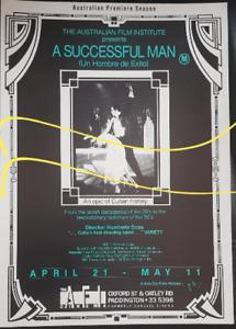 Humberto Solas' A Successful Man (Un Hombre de Exito), cinema flyer