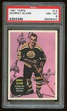 1961 Topps #14 Murray Oliver *Bruins* PSA 8 NM-MT #26558342