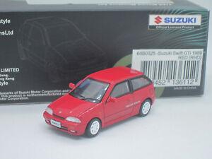 Suzuki Swift GTi Twin Cam 16 Valve 1989 red 1/64 BM Creations
