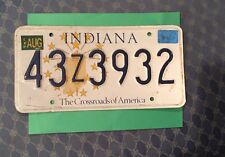 2003 INDIANA Metal License Plate Used  43Z3932