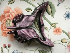 Prada hand embroidered embellished slide, made in Italy. Fabulous shoe.