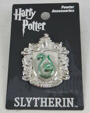 New Harry Potter Slytherin Crest Shield Pewter Lapel Pin Or Necklace Pendant