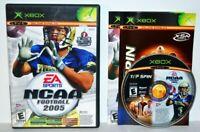 NCAA Football 2005 & Top Spin Tennis (Original Microsoft Xbox, 2004) Complete