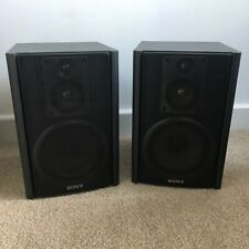 SONY SS-H1500 25W/50W 6Ohm Black Metal Grille Bookshelf Speakers Made In Japan