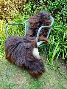 XXXL British Jacobs Brown Sheepskin Rug - 125cm by 75cm A++ (2708)