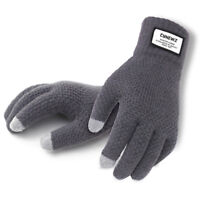 Men Women Winter Warm Kint Full Finger Fleece Lined Touch Screen Thermal Gloves