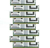 Lot of 8 Assorted Brands 32GB (8x4GB) PC2-5300F 333MHz Shielded DIMM Server RAM