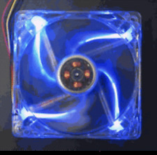 Yate Loon D14SL-124B 140mm Low Speed Computer Fan with Blue LEDs