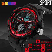 Waterproof Men Sport Quartz Wrist Watch Analog Digital Stopwatch Military Watch