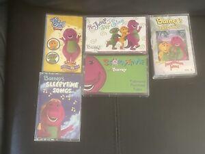 5 Vintage Barney's Cassettes. Imagination Island, Sleepytime Songs +3