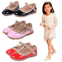 Mädchen Kinder Schuhe Ballerinas Party Hochzeit Halbschuhe Herbst Sandalen 21-36