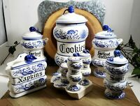 "Beautiful Vintage ""Blue Onion"" 9 piece set of Original ""ARNARTCREATION"" Japan"