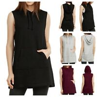 Women Sleeveless Vest Jacket Cotton Casual Tank Top T-Shirt Pullover Hoodie GYM