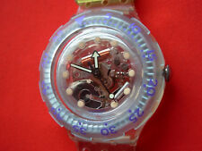 SWATCH SCUBA JELLY BUBBLES - SDK104 - 1992 - NEW with original strap + pila