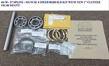 "NEW 66 THRU 70- 27 SPLINE  MUNCIE 4 SPEED REBUILD KIT!! W/1"" CLUSTER GEAR SHAFT!"