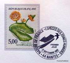 NENUPHAR JAUNE  FRANCE Yt 2769 OBLITERATION 1er JOUR NOTICE PHILATELIQUE
