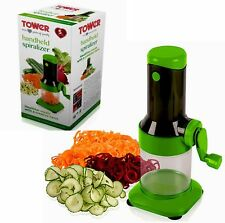 Tower Health 2-in-1 Spiralizer & Grater with Detachable Bowl, 3 Cutting Disks Uk