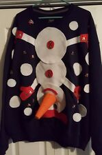 AWARD WINNING Ugly Tacky Christmas Sweater - Dirty Snowman - Men's 2XL!!!
