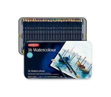 DERWENT WATERCOLOUR pastelli acquerellabili scatola metallo 36 matite art. 32885