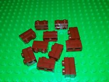 *NEW* Lego Dark Red 1x2 Mortar Bricks  Houses Walls Buildings - 10 pieces