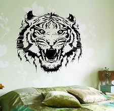 Wall Vinyl Decal Roar Tigers Head Ethnic Jungle Decor For Living Room z3657