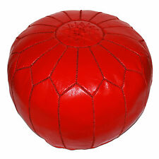 fluide cuir Coussin de siège fait à la main oreillers de sol Kora Rouge incl.