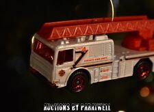 Custom 1/64 Modern Fire Pump Truck Ladder Engine Christmas Ornament Adorno NEW!