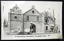 Los Angeles CA~40's OLD ADOBE MISSION~Plaza Square~RPPC