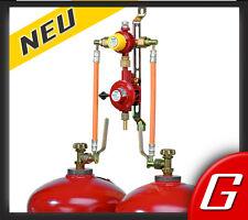 automatische Zweiflaschenanlage 2 Flaschenanlage 33 kg Gasregler Druckminderer