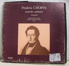 3 x 33T Coffret FREDERIC CHOPIN FRUGONI JOHANNESEN Piano LP MAZURKAS POLONAISES