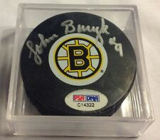 JOHN BUCYK signed Boston Bruins  puck Hockey PSA DNA autographed NHL
