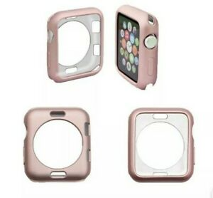 Apple iWatch 38mm Bumper Protective Case for Series 1 2 3 - Pink Metallic