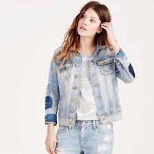 Nwt True Religion Gr Gigi Trucker Zerstört Jeansjacke Vintage True