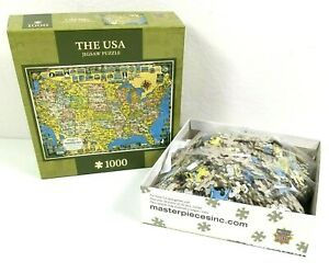 The USA Jigsaw Puzzle 1000 Pieces Masterpieces Puzzle Co. Map of America