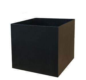 L-XXL quadratischer Pflanzkasten Pflanzkübel Übertopf Eisen Neu- bis 60x60x60cm