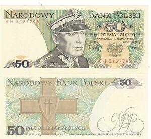 POLAND.1988,50 ZLOTYCH.PREFIX KB,,,UNC (AV)