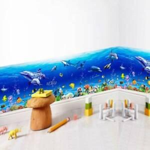 Underwater Ocean Dolphin Fish Sea Wall Art Sticker Bathroom Home Decoration Top