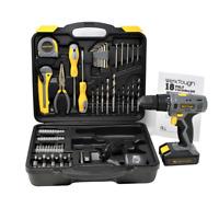 77pc Cordless drill screwdriver w/ Hex key measure tape knife drill bit socket