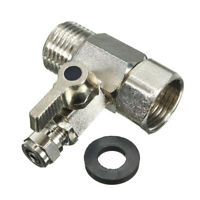 RO Feed Water Adapter 1/2'' to 1/4'' with Shut-off Ball Valve Tap T Connector