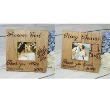 Flower Girl & Ring Bearer Gift Rustic Wedding Favor Picture Frame Thank you