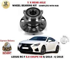 Per Lexus RCF 5.0 V8 COUPE 9/2014-4/2015 NUOVI CUSCINETTI RUOTA POSTERIORE 1X + KIT MOZZO