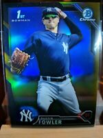 DUSTIN FOWLER 2016 BOWMAN CHROME ROOKIE BLACK GOLD REFRACTOR RC Mint