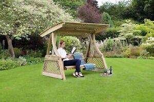 Zest Santorini Wooden Garden Swing Seat 20772