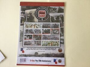 D-Day 70th Anniversary Isle of man mint never hinged Smilers Stamp Sheet  55610