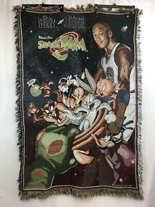 """Vintage Warner Brothers Space Jam Michael Jordan Tapestry Throw Blanket 41""""x62"""""""